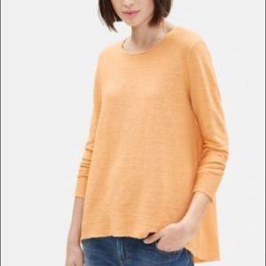 Eileen Fisher Organic Linen Knit Sweater Top